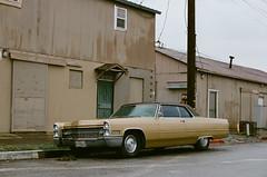 San Jose Cadillac (bior) Tags: sanjose cadillac car classic beige industrial street kodakektar25 canoneosrebel2000 ef50mmf14usm ektar california