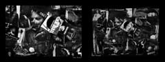 The end is the beginning. (One-Basic-Of-Art) Tags: kreativ creative art artwork kunst kunstwerk 1basicofart onebasicofart annewoyand anne woyand basteln schneiden schere kleber schwarz weis weiss blanc noir black white monochrom mono monochrome einfarbig demon teufel evil devil monster dämon gefühl emotion hurt hurts verletzung gefühle kreatur creature