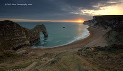 Durdle Door, Dorset 2010 (Daryl 1988) Tags: durdledoor durdle arch sea seaside coast cliffs sky sunset sundown sun dorset uk england sony a700 jurassic jurassiccoast evening ocean englishchannel southwest southwestcoastpath chalk whitecliffs