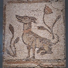 Chicago, Art Institute, Mosaic, Seated Dog, Syria (Mary Warren 11.4+ Million Views) Tags: chicago artinstituteofchicago art mosaic dog syria tiles
