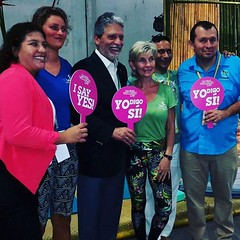 @globalwellnessday #costarica says yes. With the Minister of Tourism at #expotur #puravida #LaCusinga #travel