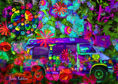 Peace And Love (brillianthues) Tags: flowers floral abstract van pece colorful collage photography photmanuplation photoshop