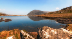 Calmness (Lee~Harris) Tags: lake water calm reflections mountain outdoor rugged beauty 7dwf stillness rocks pov colourful lens wideangle love happy serene tranquil nature nikon d300 sigma 1020mm wales cymru ogwen landscape landscapephotography camera