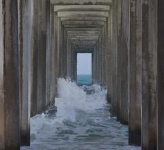 under the pier (jimbobphoto) Tags: ocean pacificocean waves water spray pier sandiego lajolla california