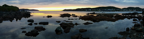 Twillingate sunset panorama