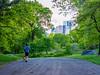 Spring in Central Park (deepaqua) Tags: carriageroad skyscraper spring centralpark timewarnercenter tree skyline nyc