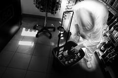 ghost in a super market (Zlatko Vickovic) Tags: streetstreetphoto streetphotography streetphotographybw streetbw streetphotobw blackandwhite monochrome zlatkovickovic zlatkovickovicphotography novisad serbia vojvodina srbija