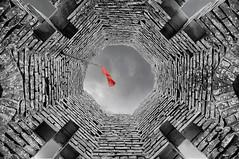 Tour du Castela 08 (Robinl81) Tags: nb black white hdr castel chateau ruine ruined brique brick monochrome tour tower