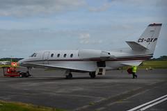 CS-DXP Netjets Cessna 560 Citation XLS EGHH 5/5/17 (David K- IOM Pics) Tags: cs csdxp cessna 560 citation xls c56x business jet netjets fraction nje europe eghh boh bournemouth hurn airport