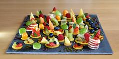 Tableau fruité (Terra Pixelis) Tags: fruit nikond810 alsace hautrhin 68 tableau création couleurs ardoise