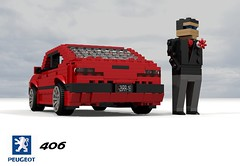 Peugeot 406 Saloon (lego911) Tags: peugeot psa 406 saloon sedan 1995 1990s france french berline auto car moc model miniland lego lego911 ldd render cad povray lugnuts challenge 115 thefrenchconnection connection