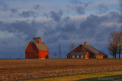 Morning Sunlight (david.horst.7) Tags: morning clouds farm barn rural landscape farmscape scenery
