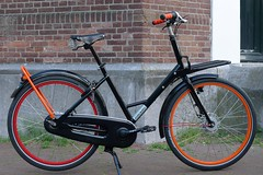 WorkCycles Gr8 Black-Red-Orange-3 (@WorkCycles) Tags: amsterdam bicycle bike city custom dutch fiets gr8 ladies stadsfiets workcycles