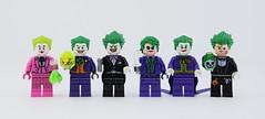 LEGO Custom Jokers by me (Alex THELEGOFAN) Tags: lego legography minifigure minifigures minifig minifigurine minifigs minifigurines joker batman video game the bomb arkham asylum city knight origins black dark purple suit clown gun knife pink