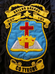 RBP 181 Banner Bready Co Tyrone (sean and nina) Tags: rbp royal black preceptory grand lodge ireland goli lol orange order banner cross crown bible religious protestant unionist loyalist pul north northern county tyrone ulster hand made bannerette cultur cultural political sollus