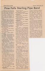 Stirling Pipe Band Pine Falls Newspaper Articles-10 (Hugh Peden) Tags: stirling pipe band pine falls manitoba major william bill macleod