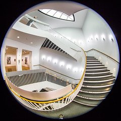 A Girl Named Disillusionment (Thomas Hawk) Tags: america chicago cookcounty illinois josefpaulkleihues kleihues mca museum museumofcontemporaryartchicago usa unitedstates unitedstatesofamerica architecture artmuseum staircase stairs contemporary art