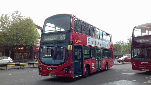 London General WHV25 on Route 163, Morden Station