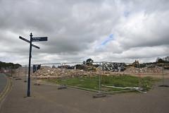 Death of a Stadium (Pegpilot) Tags: nene park rushden diamonds irthlingborough demolition football ground stadium