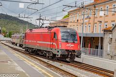 SŽ 541.015 (DavideEos) Tags: treno train zug eisenbahn ferrovia railway divača merci frieght binari güterzug sž siemens taurus es64u4 e190