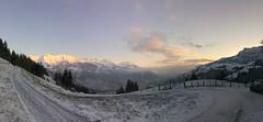 Mountainpanorama (chrugail) Tags: sky landscape sunrise morning cold nature travel snow wood mountain ice outdoors scenic hike peak no person