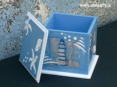 Blue-White Nautical Box (Smile Arty) Tags: gift present vintage handmade decoupage crafts arts diy nautical box summer