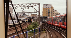 Light Rail Into Limehouse (dhcomet) Tags: london limehouse station rail transport dlr c2c train