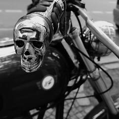 skull (=RetroTwin=) Tags: skull totenkopf detail totenschädel classic vintage lostillusion75 2017 oldtimer teilemarkt berlin motorcycle motorrad awo retrotwin bw einfarbig zweirad explore death head skeleton bone silver