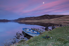 Post-Sunset at Abersky .. (Gordie Broon.) Tags: abersky torness lochruthven boat fishing grahamsgunandfishingtackleshop post sunset scottishhighlands scotland schottland serene landscape ecosse invernessshire szkocja caledonia paisaje paysage calmloch escocia scozia scenery inverness pastels reflections gordiebroonphotography 2017 flyfishing browntrout collines hills outdoor colinas errogie moon canon5dmklll canon1635f4l geddies rising mooring alba geotagged hugeln jgrahamcofishingtackleinverness