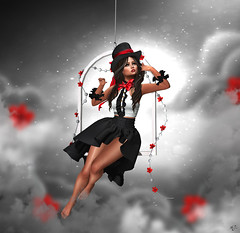 Somewhere over the clouds (meriluu17) Tags: aisha ersch fgc thefantasygachacarnival dreams dream clouds victoria hanging portrait fantasy surreal magical magic people