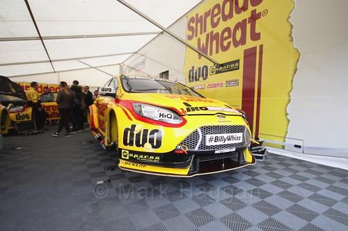 Mat Jackson's car at the Thruxton BTCC round, May 2017
