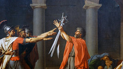 David, Oath of the Horatii, detail with swords