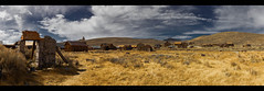View of Bodie from the Stone Ruin (Whitney Lake) Tags: historic goldrush foothills sierranevada highsierra pano ghosttown california bodie