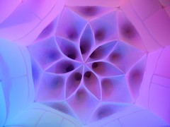 flower (citymaus) Tags: psychedelic science conference maps multidisciplinary studies celebration night 2017 geometric flower life structure inflatable colors pastel soft color sacred geometry