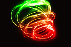 International Blur: Tornado (victoriameyo) Tags: tornado macromondays internationalblur blur motion green red light dark spine