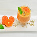 Cocktail with mandarin and carrot