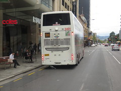 Scania K360UD 3401 on Grenfell St (RS 1990) Tags: adelaide april 2017 southaustralia scania k360ud doubledecker bus 3401 southlink grenfellst