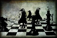 Ajedrez (manucalvoman2) Tags: retratos draganizer texturas fotomontaje fantasía texturado ajedrez