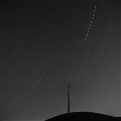 Stars (mattt1970) Tags: hasselblad500cm carlzeissplanarcft80mmf28 ilfordhp5 hc110b 6x6 blackandwhite bw startrails night sky mediumformat analog livermore