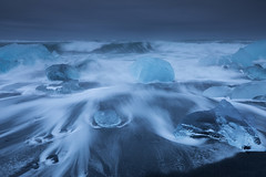 the tumbler (Andy Kennelly) Tags: ice beach tumbler iceland blacksand winter february waves rough