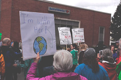 i'm with her (FADICH PHOTOGRAPHY) Tags: science march themarchforscience 2017 april earthday earth day lisaparshley activism protest olympia washington environmentalism gogreen clean energy vote womenofscience climatechange climate change global warming poverty war drought resourcescarcity