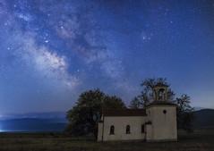Chilly night (S_Simov Photography) Tags: bulgaria sofia landscape night star stars longexposure milky way chapel church
