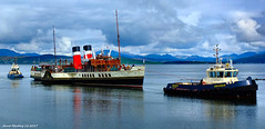 Scotland Greenock the paddle steamer Waverley being towed into the ship repair dry dock 28 April 2017 by Anne MacKay (Anne MacKay images of interest & wonder) Tags: scotland greenock paddle steamer waverley tugs ships xs1 28 april 2017 picture by anne mackay