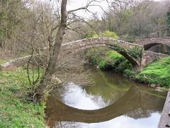 #FlickrFriday Bridge.  Beggar's Bridge, Grosmont (Martellotower) Tags: flickrfriday beggars bridge glaisdale north yorkshire river esk