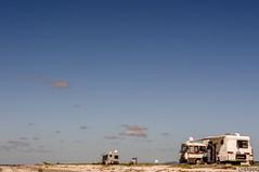 Campervans at Miranda (smellerbee) Tags: beach sand shells sky blue vans campervans caravans vehicles vehicle desolate empty newzealand nz waikato shore shoreline digital pentax pentaxkr colour color