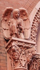 Epiphany Church (neshachan) Tags: pittsburgh pittsburghpa church churchoftheepiphany epiphanychurch angel sculpture art carving architecturaldeetails architecturaldetails
