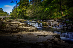 Stainforth Force. (Ian Emerson) Tags: yorkshire river ribble waterfall rocks bridge trees water scenic outdoor landscape hoya canon stainforth