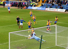 Mansfield v Pompey (Roy Richard Llowarch) Tags: mansfield mansfieldtown mansfieldtownfc thestags stags theyellows yellows fieldmill pompey pompeyfc pompeyfans pompeyfootballclub playuppompey portsmouth portsmouthengland portsmouthfc portsmouthfootballclub pup bluearmy blues portsmouthfans football footballgrounds footballstadiums footballfans footballteams footballclubs soccer soccergrounds soccerstadiums soccerclubs soccerteams soccerfans league2 beautifulgame thebeautifulgame efl fans sports sportsvenues sportstadiums sporting sportsmen nottinghamshire royllowarch royrichardllowarch llowarch spring springtime england englishheritage englishhistory englishfootballfans goal goals