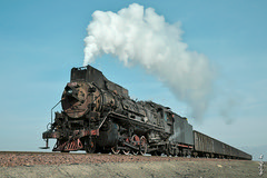 JS-8053 ... (N.Batkhurel) Tags: steamlocomotive steam sandaoling china coalmine xinjiang railway railfan trains tourism trainspotting transport locomotive ngc nikon nikondf