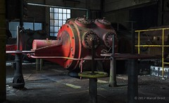 Red Turbine (Scream urbex) Tags: ©2017marceldrost allrightsreserved urban exploration scream urbex ue abandoned abandonments decay decayed forbidden verboden restricted area site old oud lost forgotten rotten red turbine